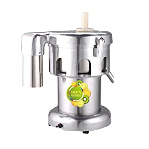 BMGIANT WF-A2000 Automatic Centrifugal Juicer Commercial Stainless Steel Juice Making Machine Juice Extractor 370W 2800r/min 80-120kg/h (110V)