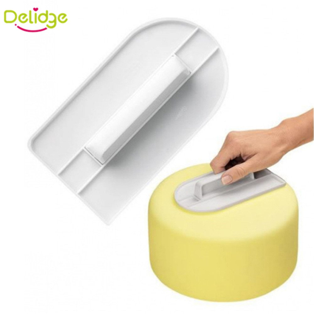1 pcs Plastic Cake Smoother Polisher Tools Cake Decorating Smoother Fondant Sugarcraft Cake Spatulas DIY Baking Tools