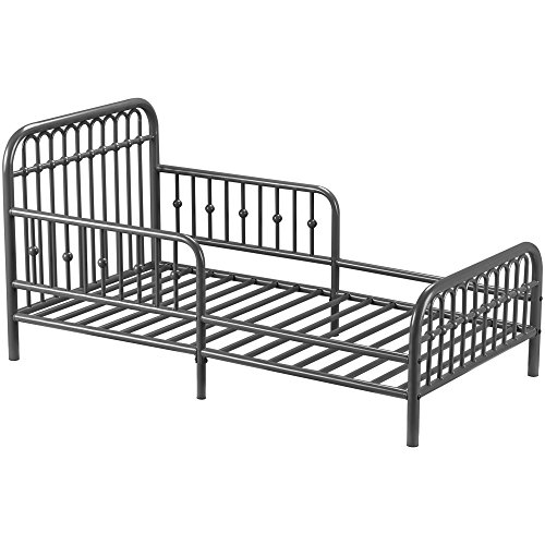 Little Seeds Monarch Metal Toddler Bed, Gray by Little Seeds