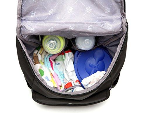 LCY elegante multifunción organizador portátil mochila bolso cambiador bolsa con cambiador gris negro