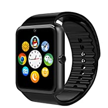 ULTREND TURBO Bluetooth Smart Watch with NFC for Smartphones IOS Android Samsung S3/s4/s5/note 2/note 3/note 4 and Iphone 5/5c/5s/6/6 Plus GT08 (BLACK)