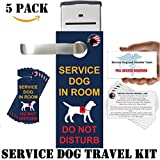 Official Service Dog Travel Kit includes''Service Dog in Room - Do Not Disturb'' - Door-Hangers (pack of 5) and ADA/FAA Informational Handout Cards (pack of 5)