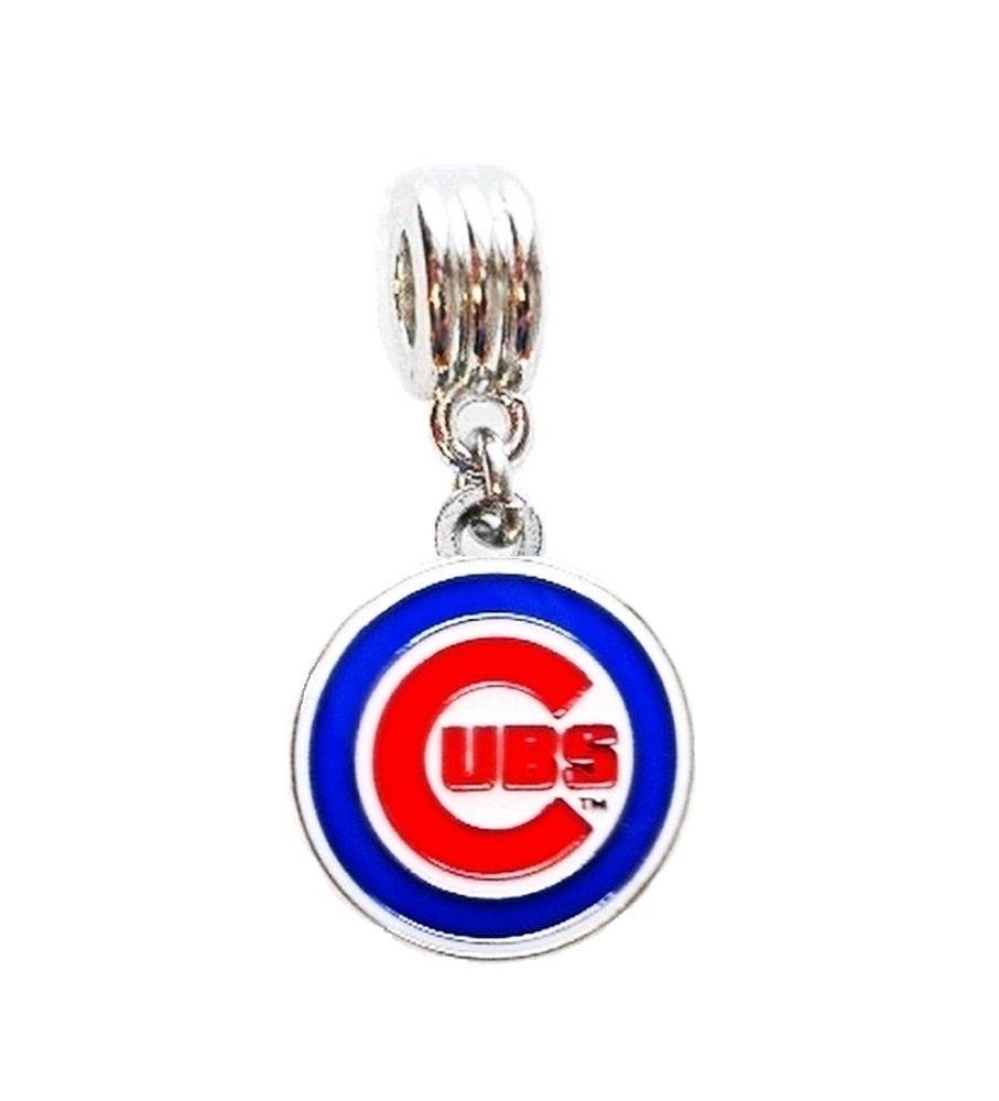 Fits Most Name Brands Heavens Jewelry CHICAGO CUBS BASEBALL TEAM CHARM SLIDE PENDANT FOR NECKLACE EUROPEAN CHARM BRACELET DIY ETC