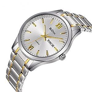 Watch, Mens Women Stainless Steel Luxury Business Casual Milanese Mesh Band Wrist Watch Waterproof