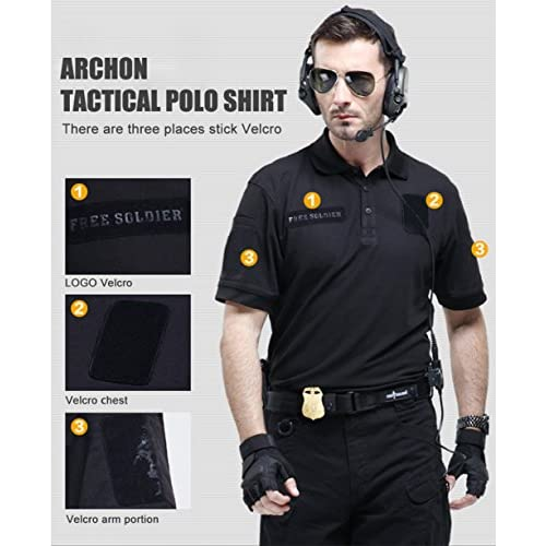 851c1a5a1206 30%OFF FREE SOLDIER Outdoor Men Breathable Long Sleeve Polo T-Shirt ...