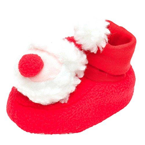 BURFLY Kinderkleidung ♥♥Red Nettes Weihnachten Neugeborenes Säugling Weiche Krippe schuhe Weiche Sohle Anti-Rutsch-Turnschuhe Rot