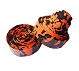 carbonenmy Höherwertig Colour Handlebar Tape Road Bike Cork Handlebar Tape Top Quality New, Orange/Black