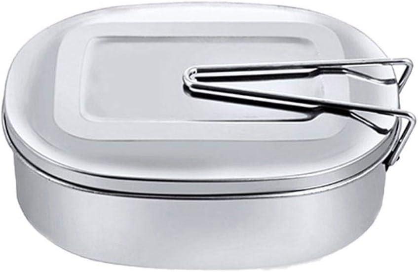 Fablcrew - Caja de almacenamiento rectangular de acero inoxidable, con clip de bloqueo, para niños estudiantes y adultos