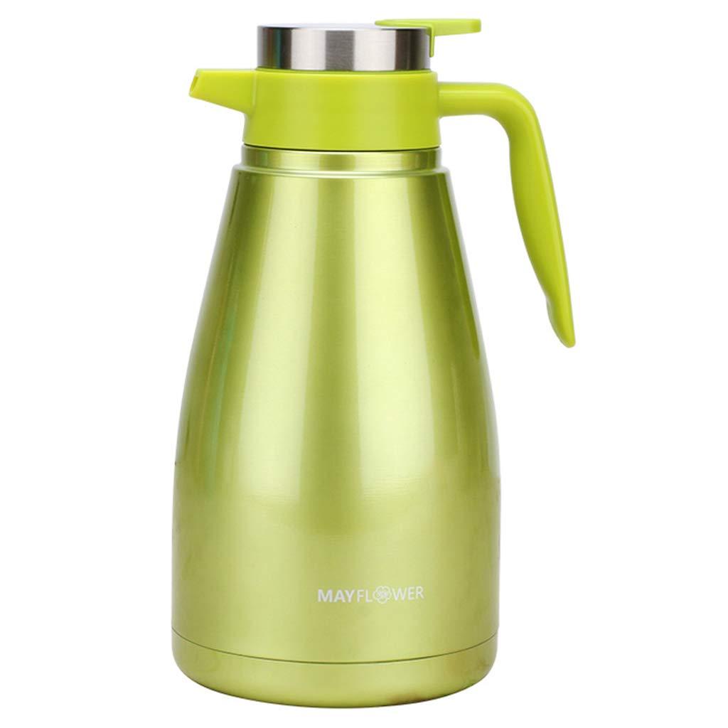 真空304のステンレス鋼の絶縁材の鍋、漏れ防止オフィスの世帯の大容量1500ML (容量 : 1500ml, 色 : Green)   B07MJG39NG