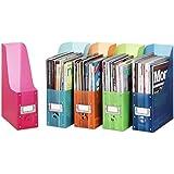 Whitmor 6754-372-5 Plastic Magazine Organizers, Set of 5, Assorted colors