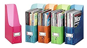 Whitmor 6754-372-5 Plastic Magazine Organizers, Set of 5, Assorted colors