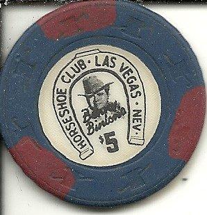 $5 binion's horseshoe hat & cane casino las vegas casino chip obsolete