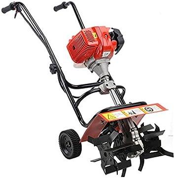 GOWE profesional Herramientas de jardín, 52 cc 1.9 KW Mini gasolina timón cultivador (diseño de jardín, gasolina cultivador: Amazon.es: Bricolaje y herramientas