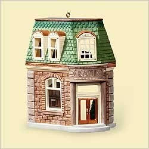 HALLMARK KEEPSAKE CORNER BANK NOSTALGIC HOUSES AND SHOPS 2006