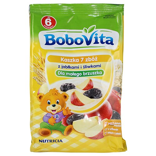 Bobovita 7 Grain Porridge with Apples and Plums for Babies (180g / 6.34 Oz)