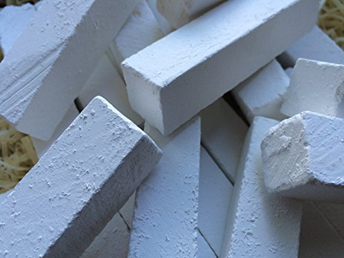 Edible chalk, SAWN edible Chalk chunks (lump) natural for eating (food), 8 oz (220 g) by UCLAYS