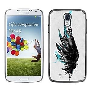 All Phone Most Case / Oferta Especial Duro Teléfono Inteligente PC Cáscara Funda Cubierta de proteccion Caso / Hard Case Samsung Galaxy S4 // Blue Feathers