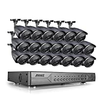 Annke 24CH Surveillance Camera System 1080N DVR Reorder and (20) HD 960P 1.3MP Indoor/Outdoor CCTV Bullet Cameras with IP66 Weatherproof, 100ft IR Night Vision, Motion Detection, NO HDD