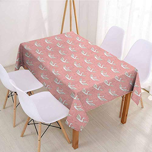 ScottDecor Fabric Tablecloth Rectangular Polyester Tablecloth W 70