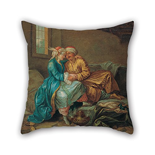 Sultana Mirror - Loveloveu Oil Painting Étienne Jeaurat - The Favourite Sultana Cushion Covers 16 X 16 Inches / 40 By 40 Cm For Kids Room,club,wedding,him,birthday,play Room With Both Sides