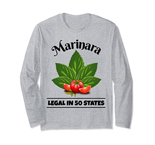 Marinara Legal in 50 States Basil and Tomatoes Unisex Long-Sleeve T-Shirt