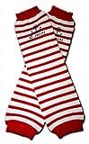 Precious Eggs Unisex-Baby C. Mini Stripes Leg Warmer Red & White
