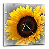 3dRose dpp_37531_2 Yellow Sunflower Delight- Autumn Flowers- Photography-Wall Clock, 13 by 13-Inch For Sale