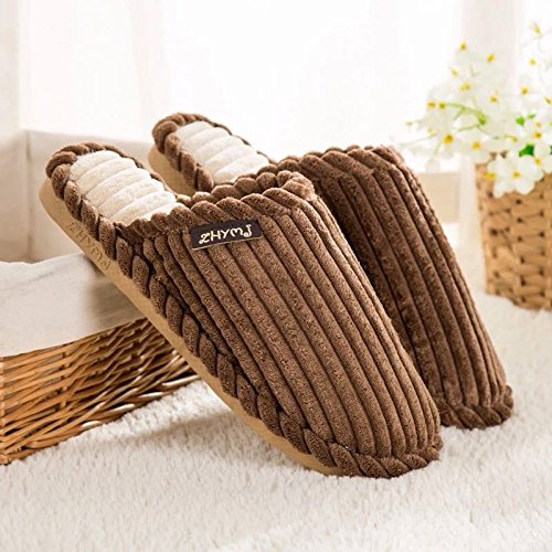LaxBa Lhiver au chaud, lhiver Chaussons Chaussons moelleux Accueil chaleureux en hiver, chaussures antiglisse Chambre Chaussons Brown44-45 (42-43)