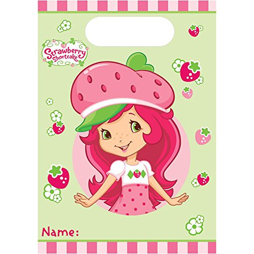 Amscan Strawberry Shortcake Loot Favor Bags (8 Pack) - Party -
