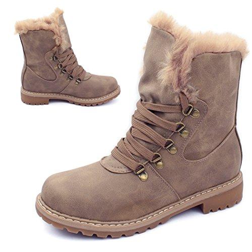 best-boots NEU Damen Stiefelette Winter Stiefel BenkeyB Mevina best-boots Khaki