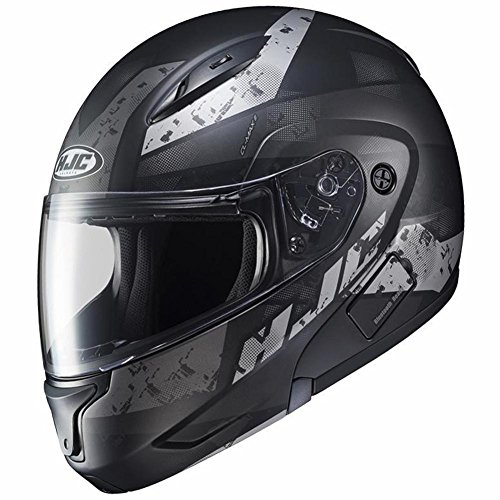 HJC Helmets XF-10- CL-Max II Friction Helmet, Gender: Mens/Unisex, Helmet Type: Modular Helmets, Helmet Category: Street, Distinct Name: Black/Silver, Primary Color: Black, Size: Sm
