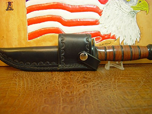 Marines Fighting Knife (KA-BAR Full Size US Marine Corp Fighting Knife crossdraw BLACK Sheath. Knife NOT included.)