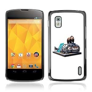 YOYOSHOP [Bear & Zebra On The Street] LG Google Nexus 4 Case