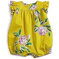 Macacão Primavera Green Amarelo - Bebê Menina 6-9M