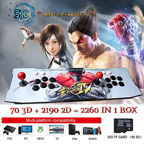 ElementDigital Arcade Game Console 1080P 3D & 2D Games 2260 in 1 Pandora's Box 70 3D Games 2 Players Arcade Machine Arcade Joystick Support Expand 6000+ Games by ElementDigital (Image #9)