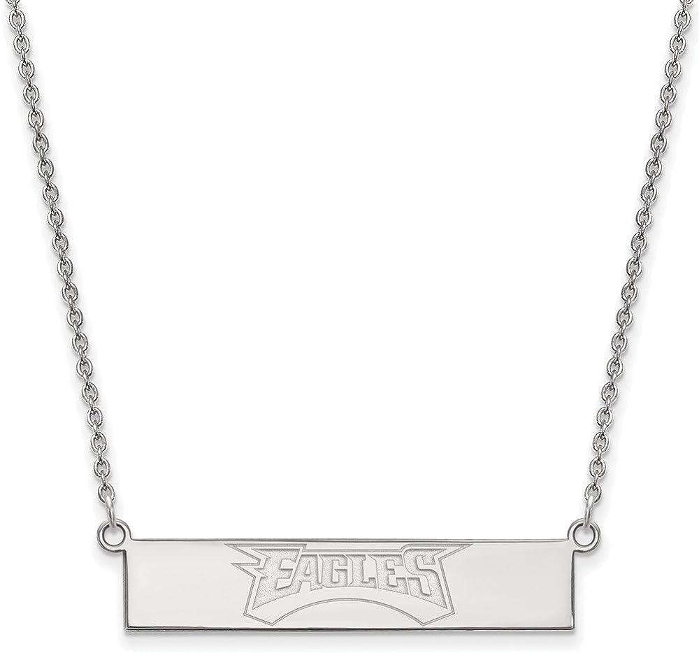 NFL Sterling Silver Philadelphia Eagles Small Bar Necklace