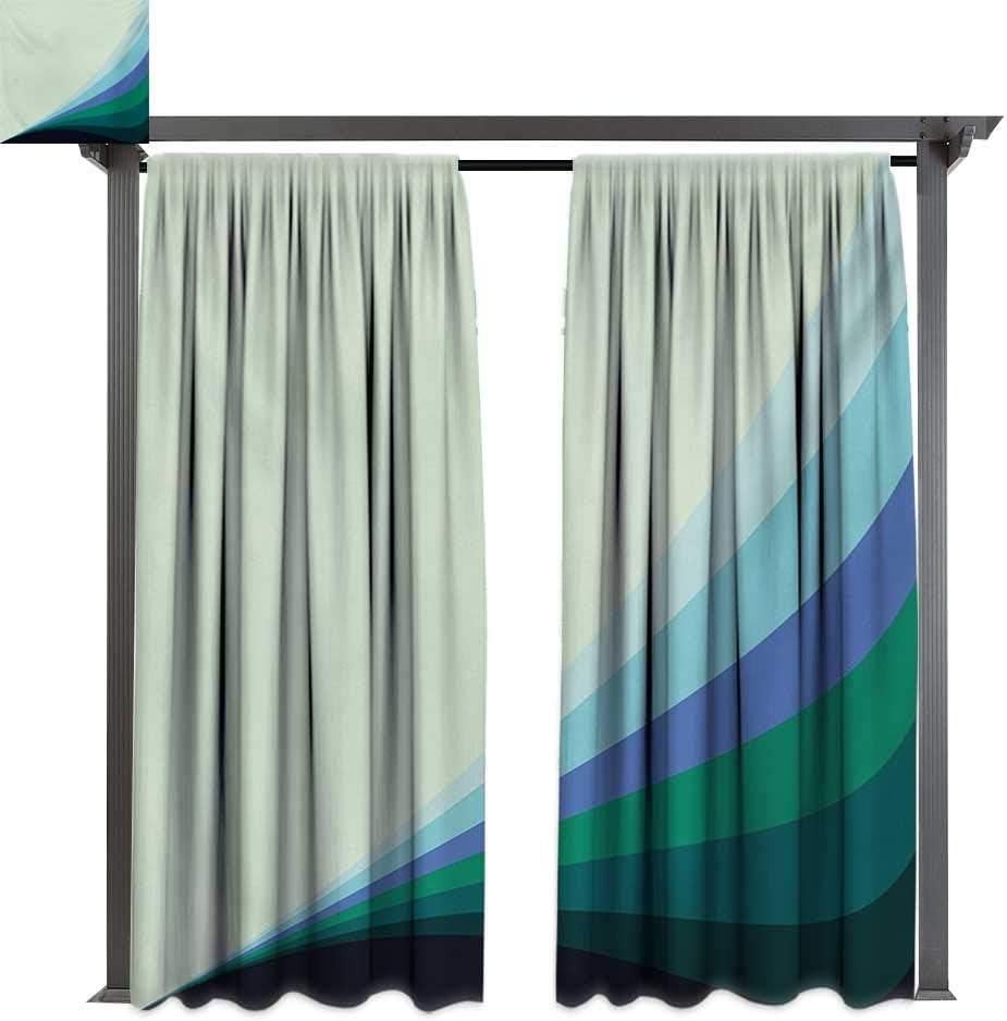 Bybyhome - Cortinas de porche, diseño de mosaico triangular, color ...