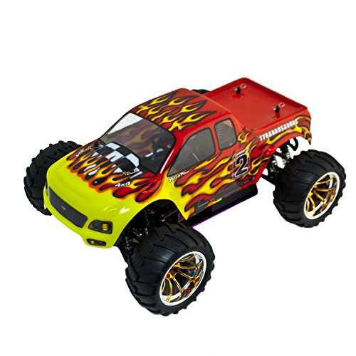 ALEKO RCC94108RED R/C Gas Powered 4WD Off-Road Truck (1:1...