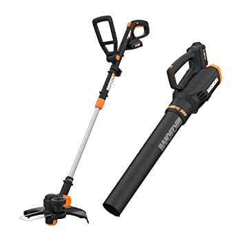 Worx WG930 Weed Eater & TURBINE Blower Combo Kit