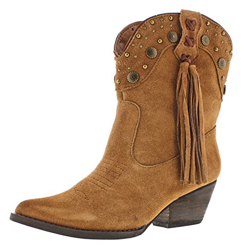 Very Volatile Women's Waddy Ankle Boot Tan 6 M US