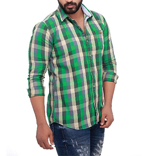 Roller Fashions Full Sleeve Slim fit Checked Shirt