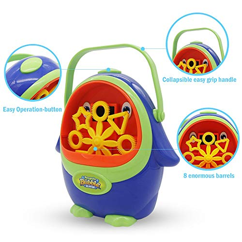 wokashaka Bubble Machine for Kids Penguin Automatic Durable Bubble-800 Bubbles Per Minute Bubble Toys
