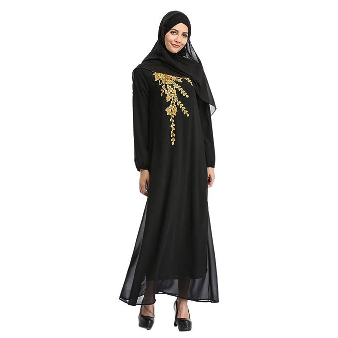 dfc96d7e9 Xinvision Arab Middle East Malaysia Kaftán Turkey musulmán Mujer Abaya Traje  étnico islámico Dubai Manga Larga Boda Cóctel Vestido de Noche Maxi Dress  Robe  ...