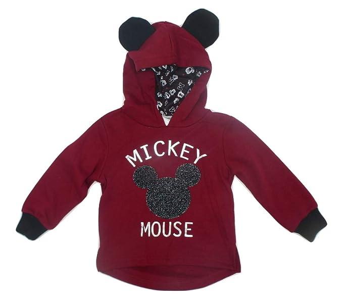 Mickey Mouse - Sudadera con Capucha - para niño Azul Rojo Oscuro 8 años: Amazon.es: Ropa y accesorios