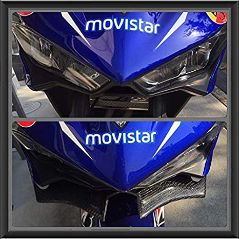 carbon color Front Aerodynamic Winglets Windshield Fairing Wing Yamaha YZF R3 R25 2014-2018 MotoGP Style
