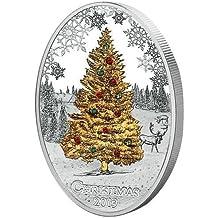 2013 AU 2013 Chrismass tree swarowski 2013 Cook Islands - Silver Coin - $2 Uncirculated BM