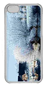 Customized iphone 5C PC Transparent Case - White Trees Along The Kromme Rijn River Personalized Cover