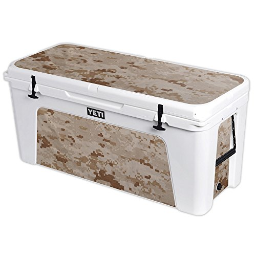 MightySkins Protective Vinyl Skin Decal for YETI Tundra 160 qt Cooler wrap Cover Sticker Skins Desert Camo ()