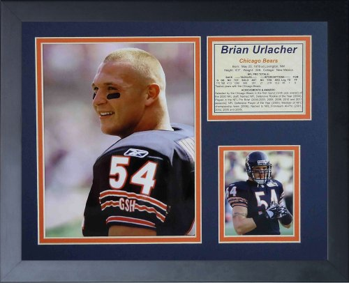 Legends Never Die Brian Urlacher Portrait Framed Photo Collage, 11x14-Inch