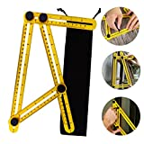 Tools & Hardware : Multi Angle Measuring Ruler Professional Angle Measurement Tool Easy Angleizer Template Tool for Craftsmen, Builders & Handymen